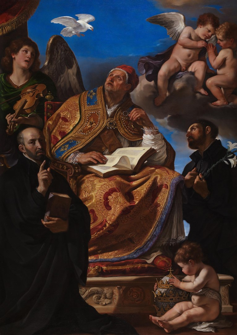 Saint Gregory the Great with Jesuit Saints by Guercino
