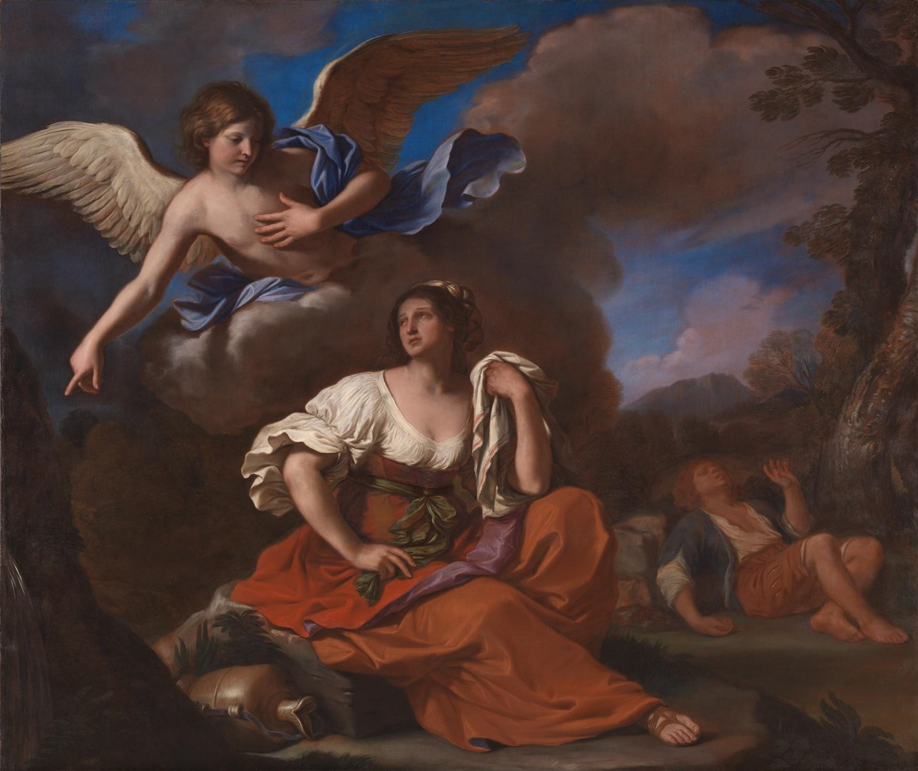 The Angel appears to Hagar and Ishmael by Guercino