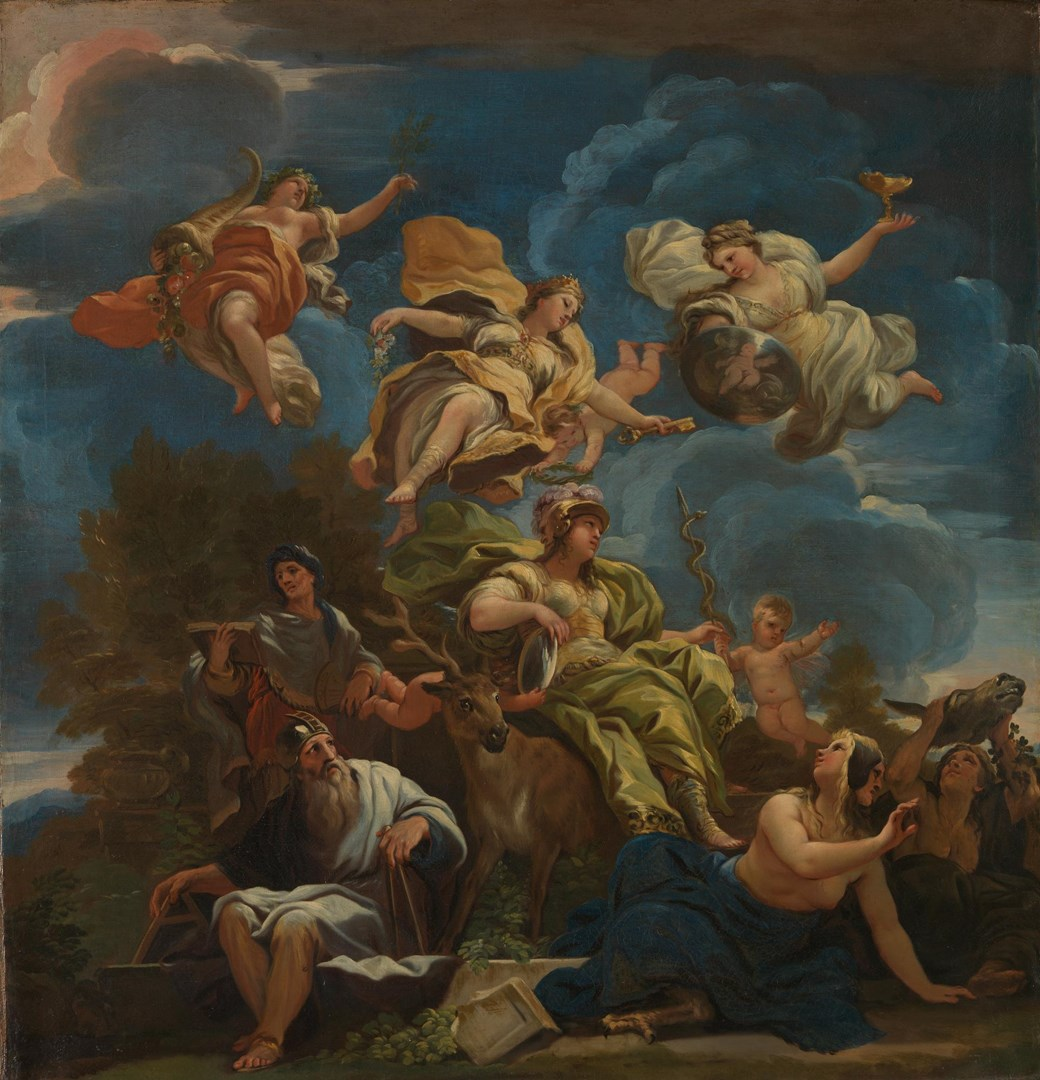 Allegory of Prudence by Luca Giordano