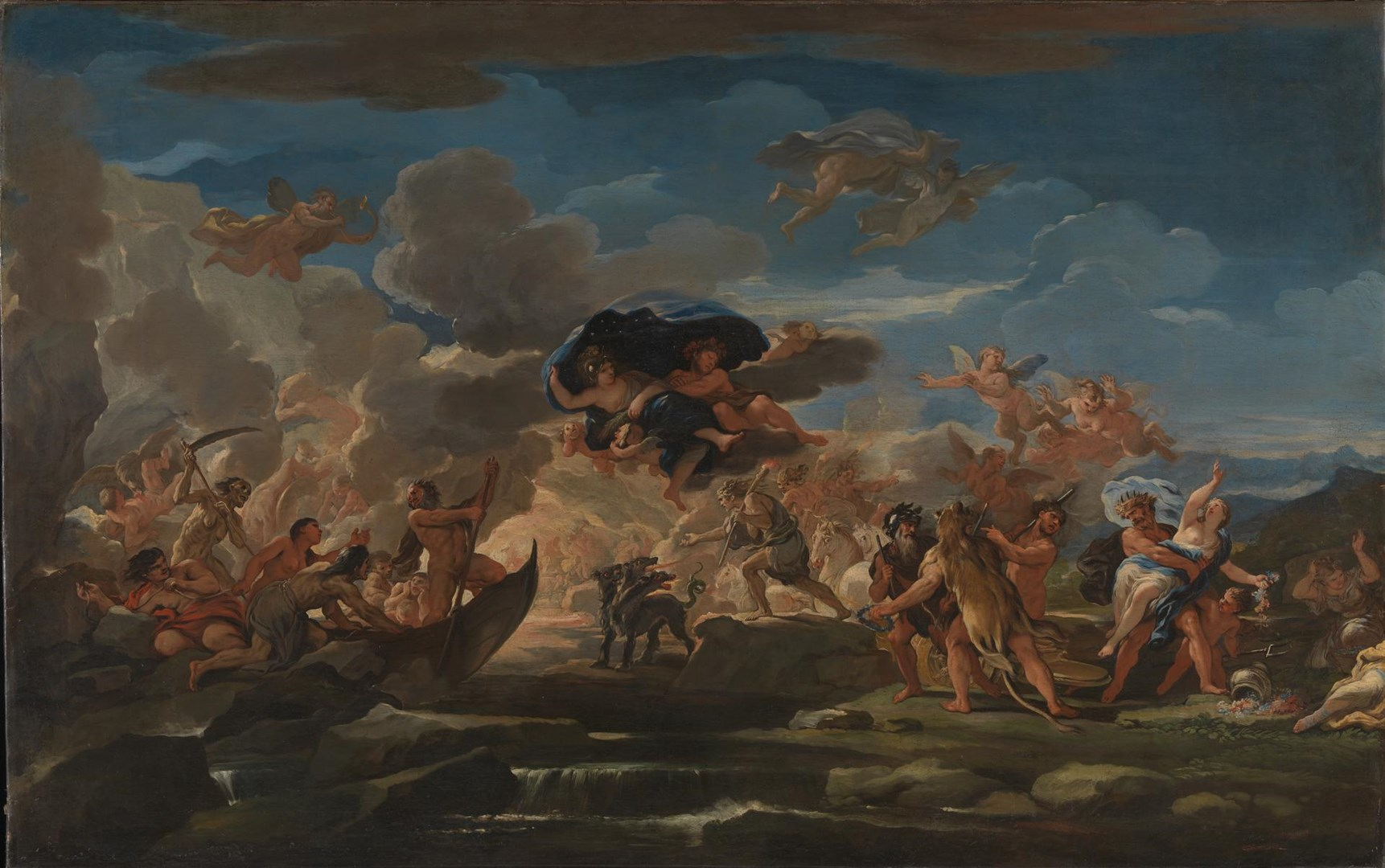 Mythological Scene with the Rape of Proserpine by Luca Giordano