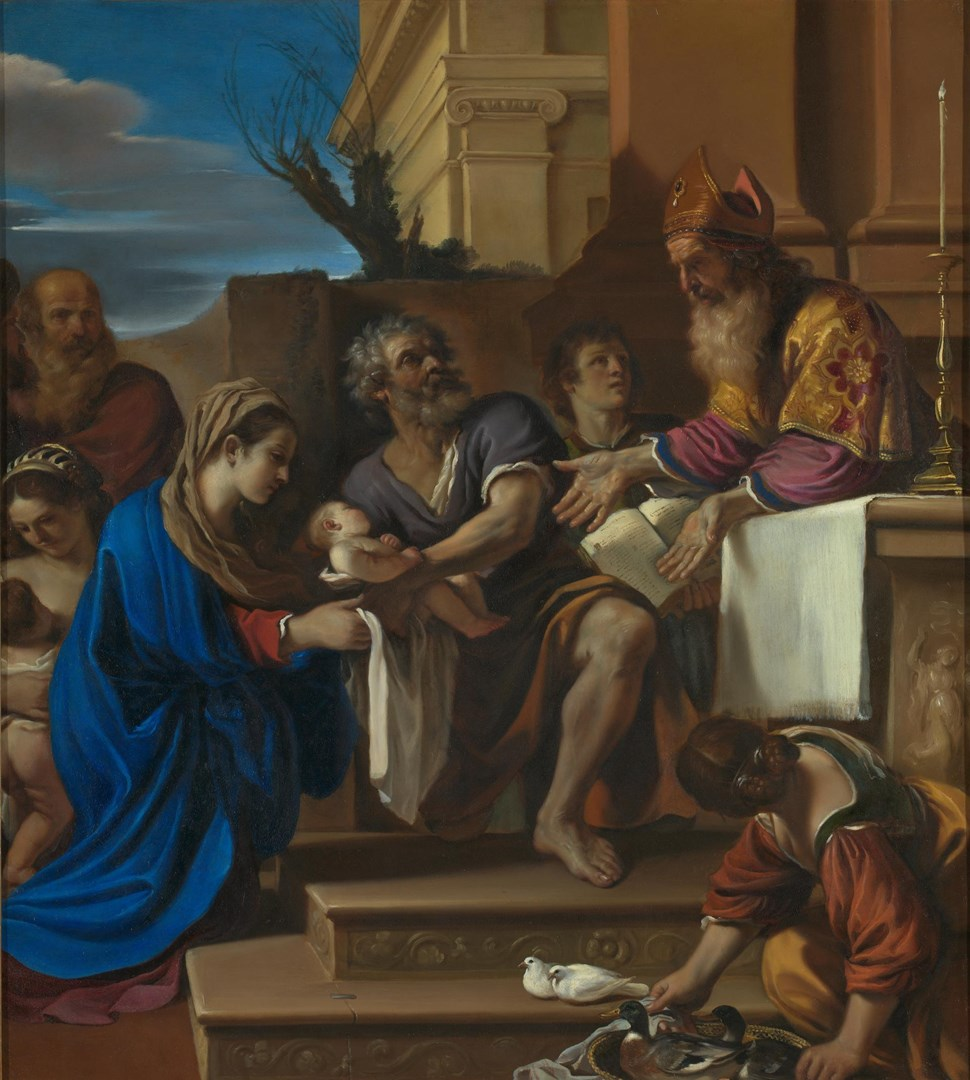The Presentation of Jesus in the Temple by Guercino