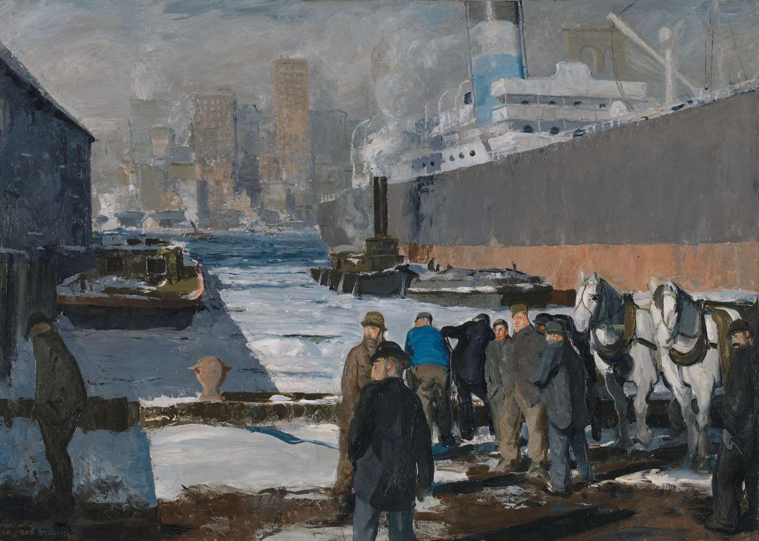 Men of the Docks by George Bellows