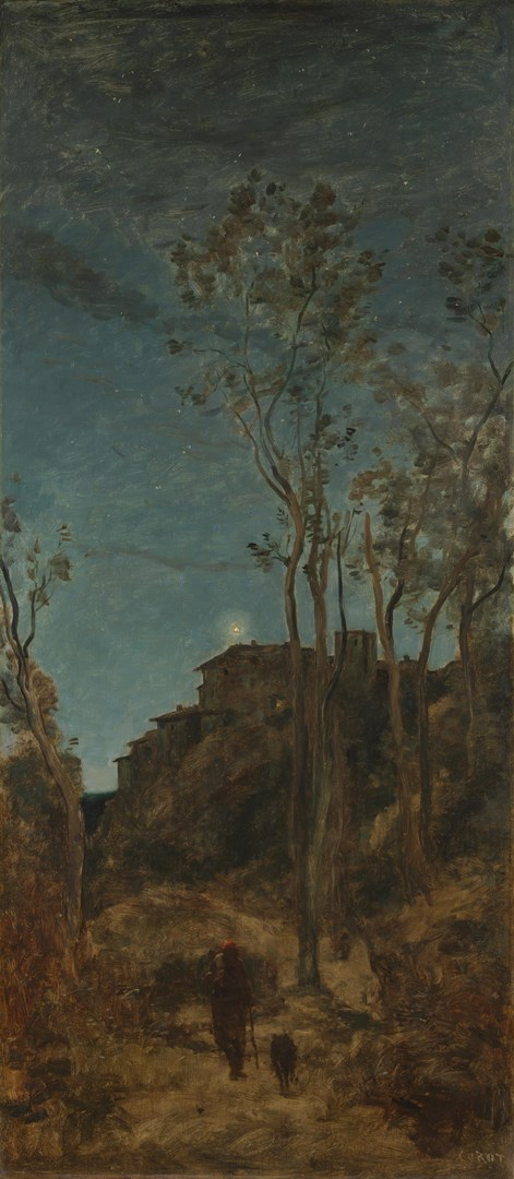The Four Times of Day: Night by Jean-Baptiste-Camille Corot