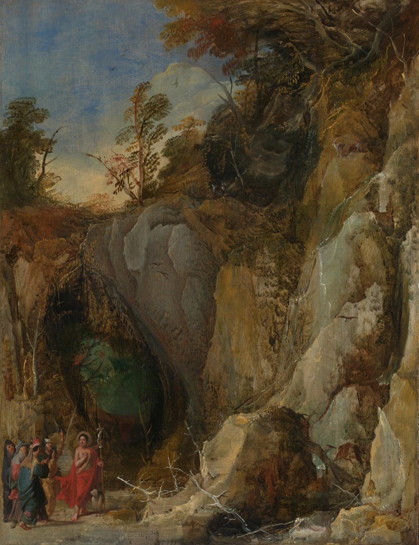 Rocky Landscape with Saint John the Baptist by Joos de Momper the Younger