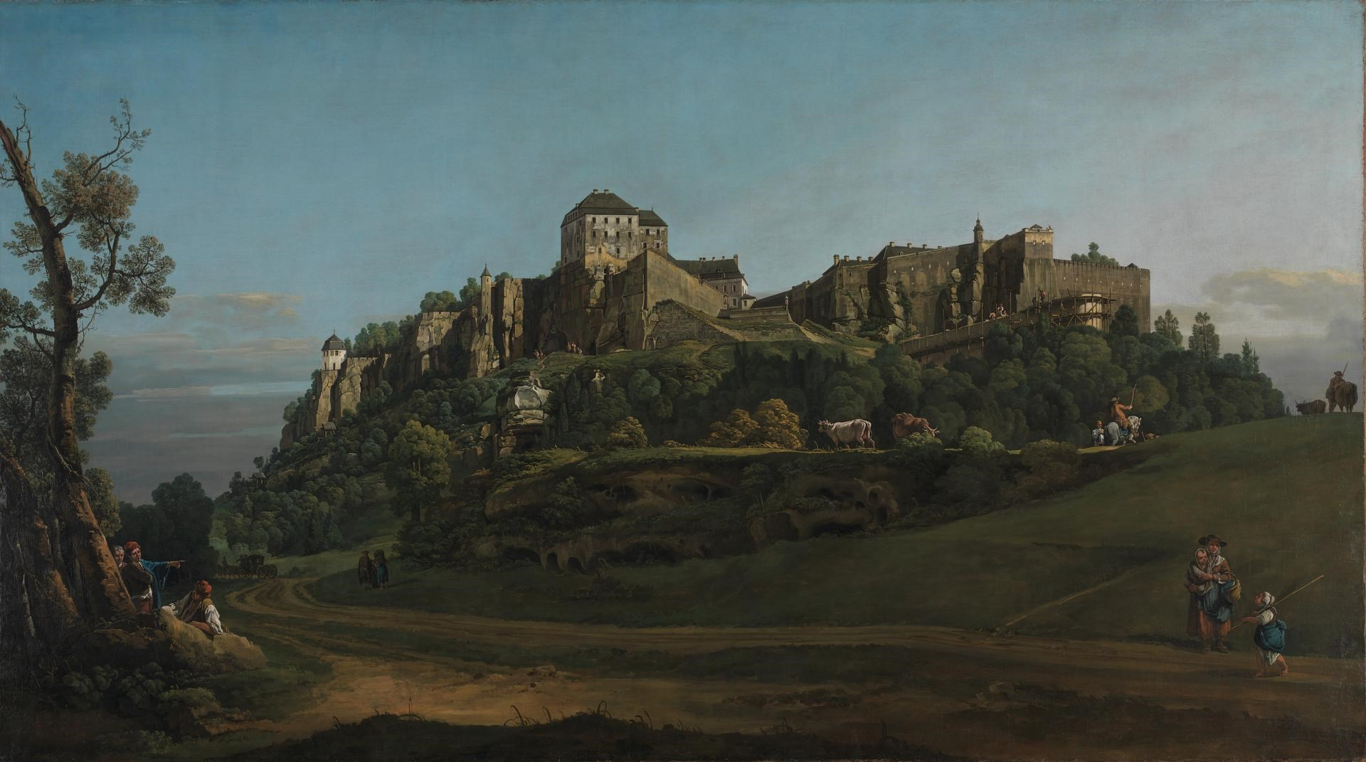 The Fortress of Königstein from the North by Bernardo Bellotto