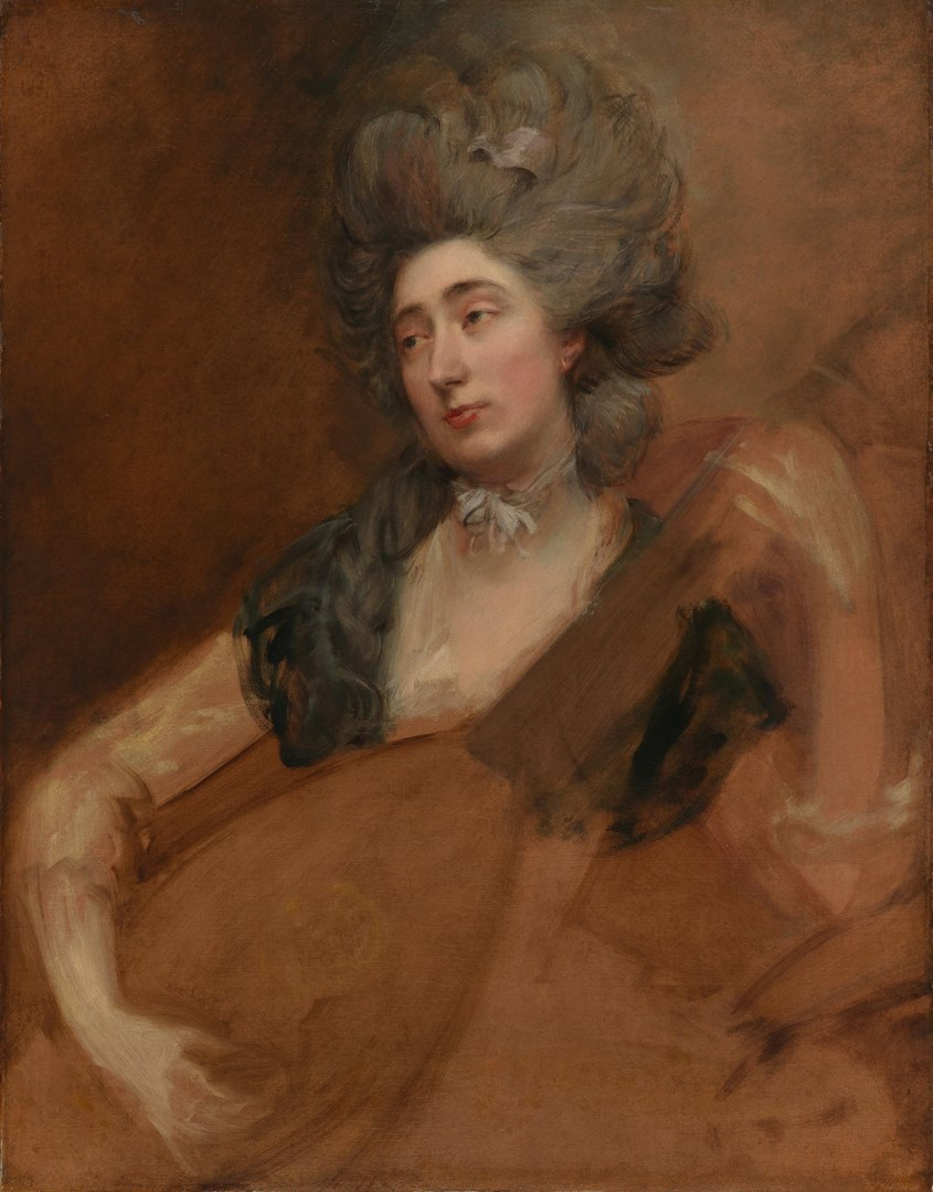 Margaret Gainsborough holding a Theorbo by Thomas Gainsborough