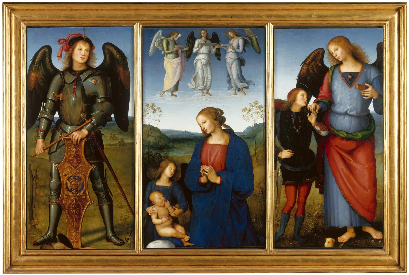 Three Panels from an Altarpiece, Certosa by Pietro Perugino