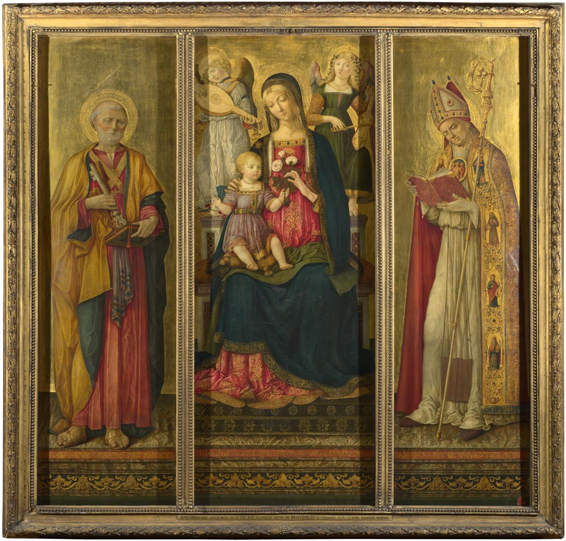 Altarpiece: The Virgin and Child with Saints by Benvenuto di Giovanni