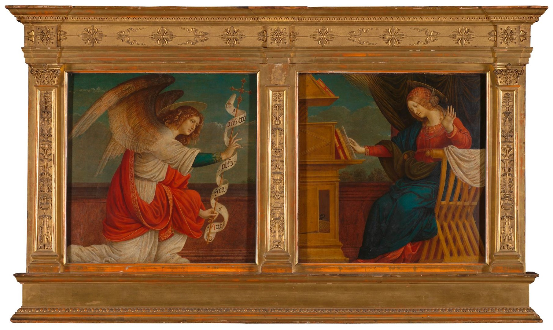 Panels from an Altarpiece: The Annunciation by Gaudenzio Ferrari