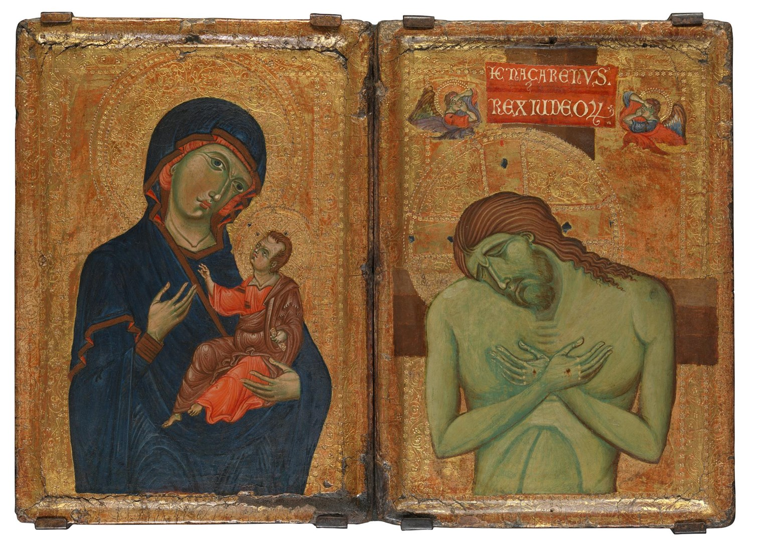 Umbrian Diptych by Master of the Borgo Crucifix (Master of the Franciscan Crucifixes)