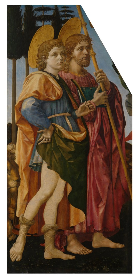 Saints Mamas and James by Francesco Pesellino and Fra Filippo Lippi and Workshop