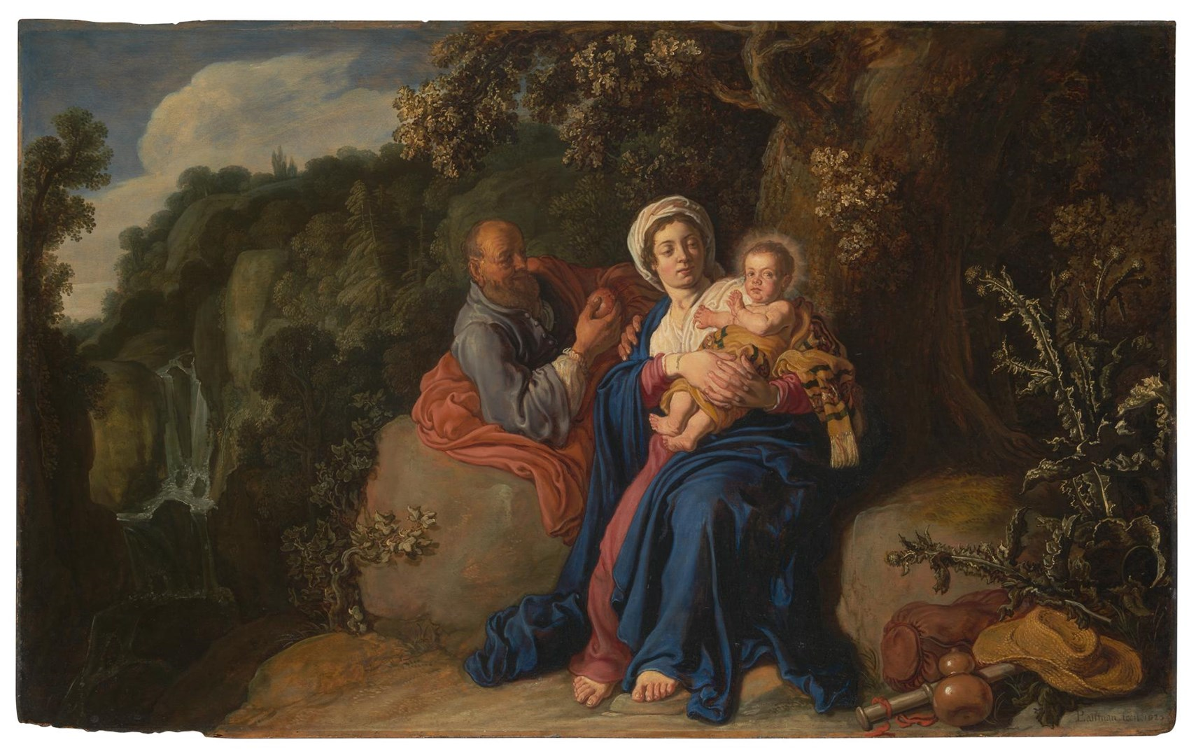 The Rest on the Flight into Egypt by Pieter Lastman