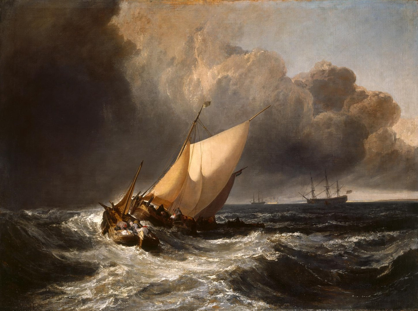 Dutch Boats in a Gale ('The Bridgewater Sea Piece') by Joseph Mallord William Turner