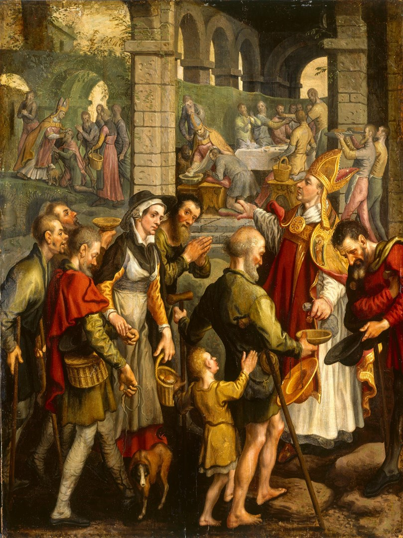 Scenes from the Life of an Unidentified Bishop Saint by Pieter Aertsen