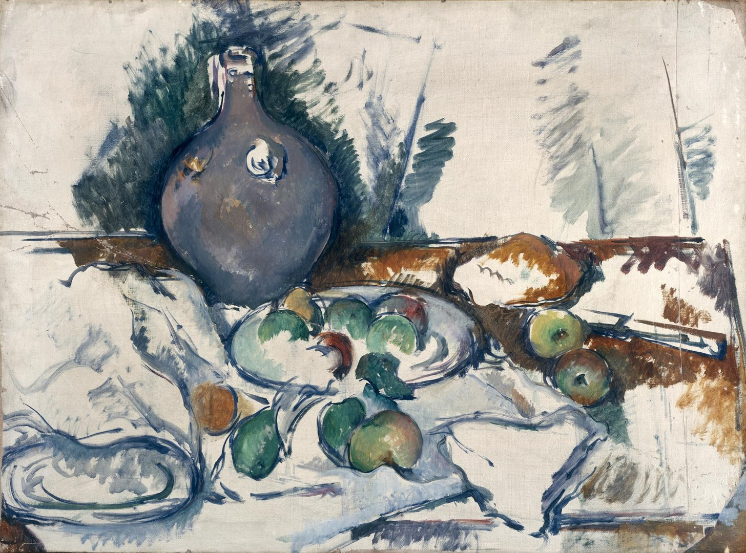 Still Life with Water Jug by Paul Cézanne