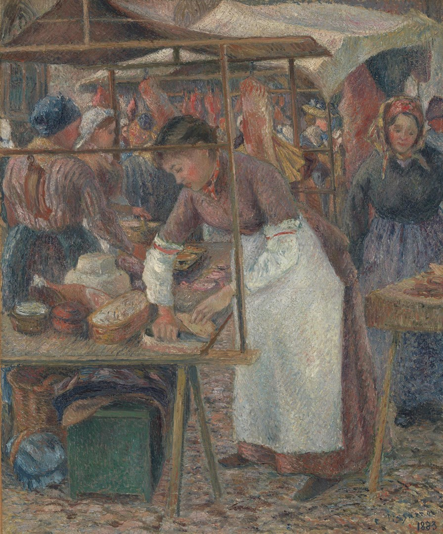 The Pork Butcher by Camille Pissarro