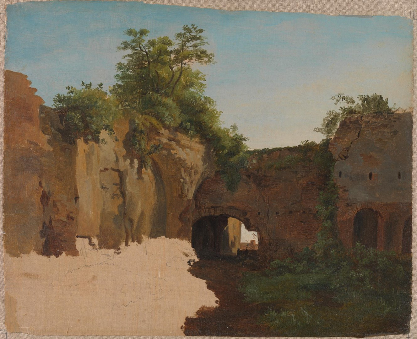 Antique Ruins (the Baths of Caracalla?) by Gilles-François-Joseph Closson