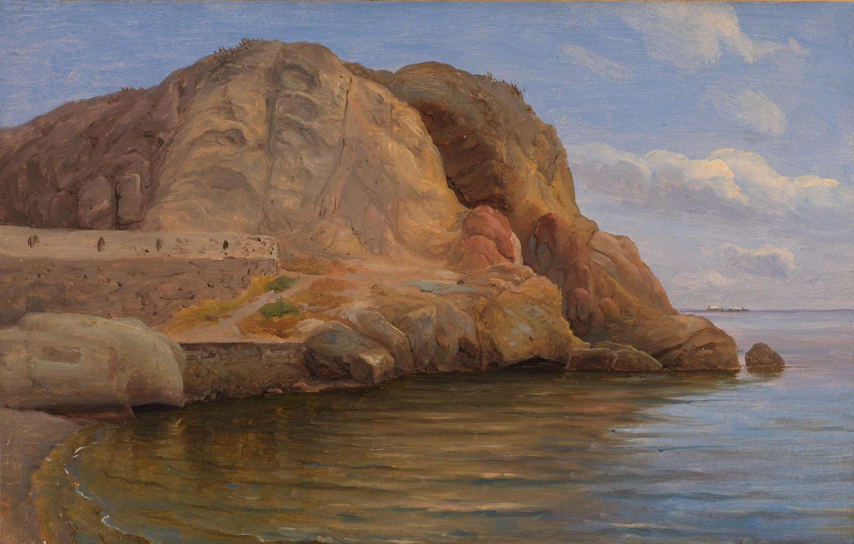 Coast scene, possibly Capri by Thomas Fearnley