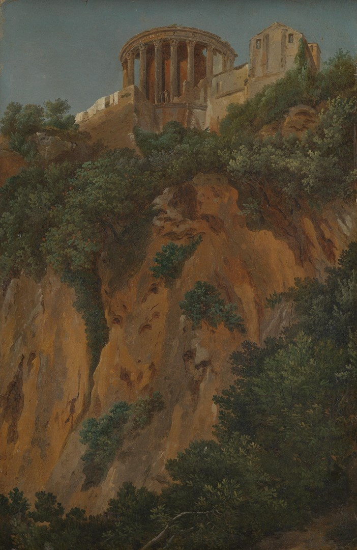 The Temple of Vesta at Tivoli seen from the Gorge by French