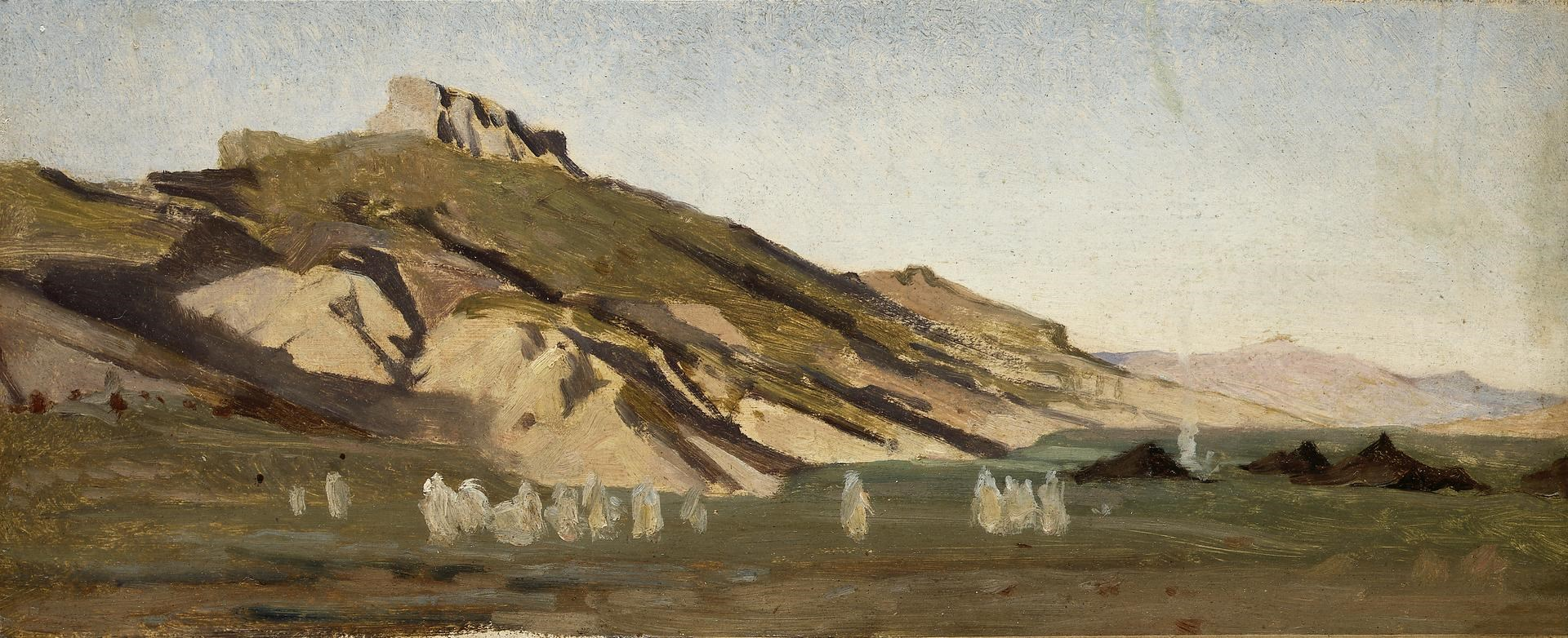 Mountains in North Africa, with a Bedouin Camp by Gustave Guillaumet