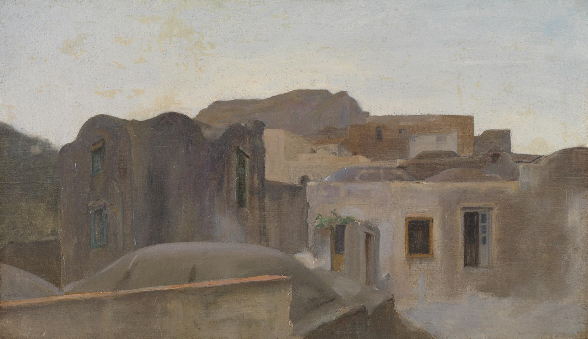 Houses in Capri by Possibly by Frederic, Lord Leighton