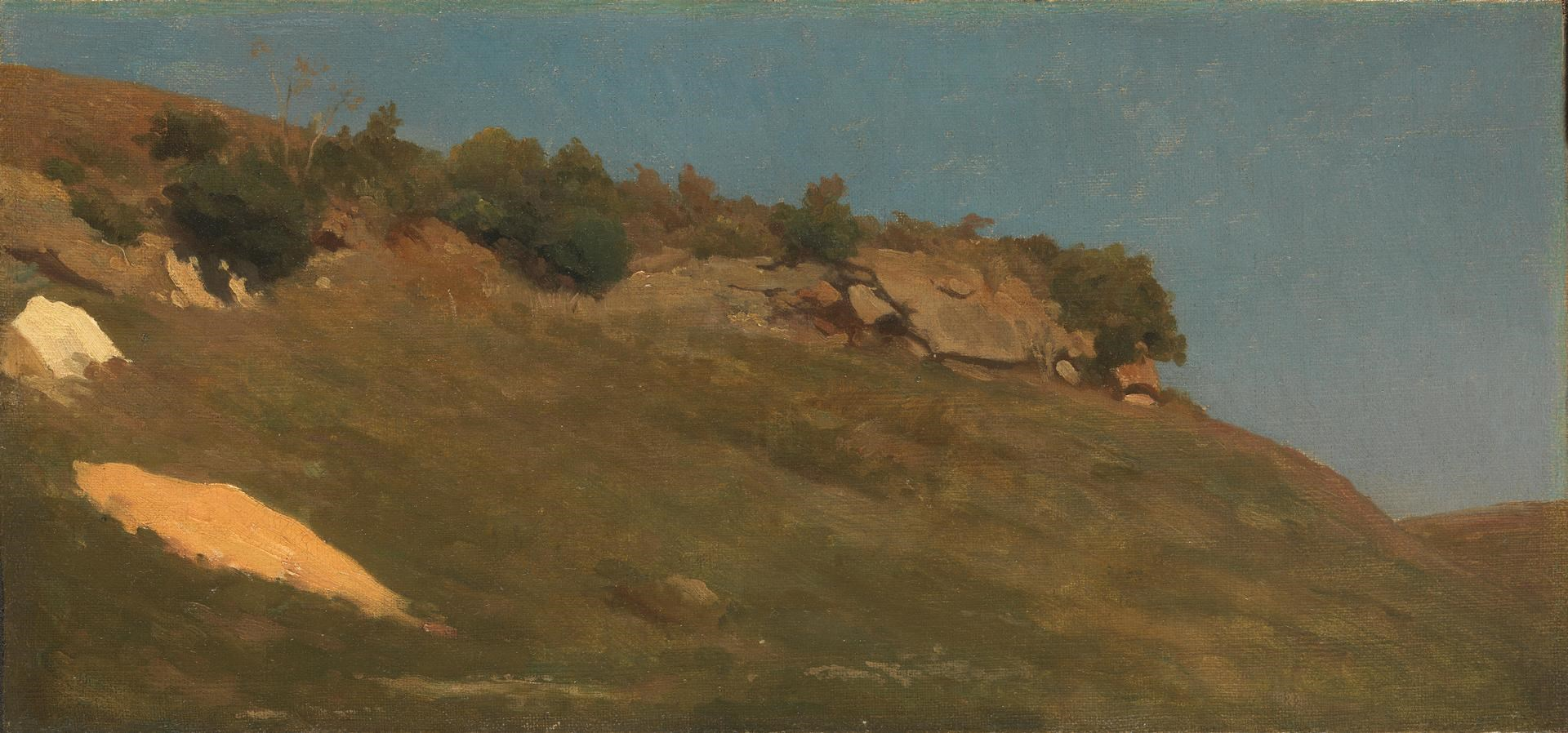 An Outcrop in the Campagna by Frederic, Lord Leighton