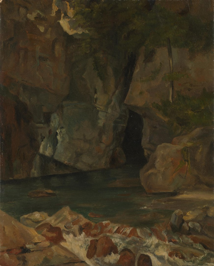 A Torrent in a Rocky Gorge by Achille-Etna Michallon