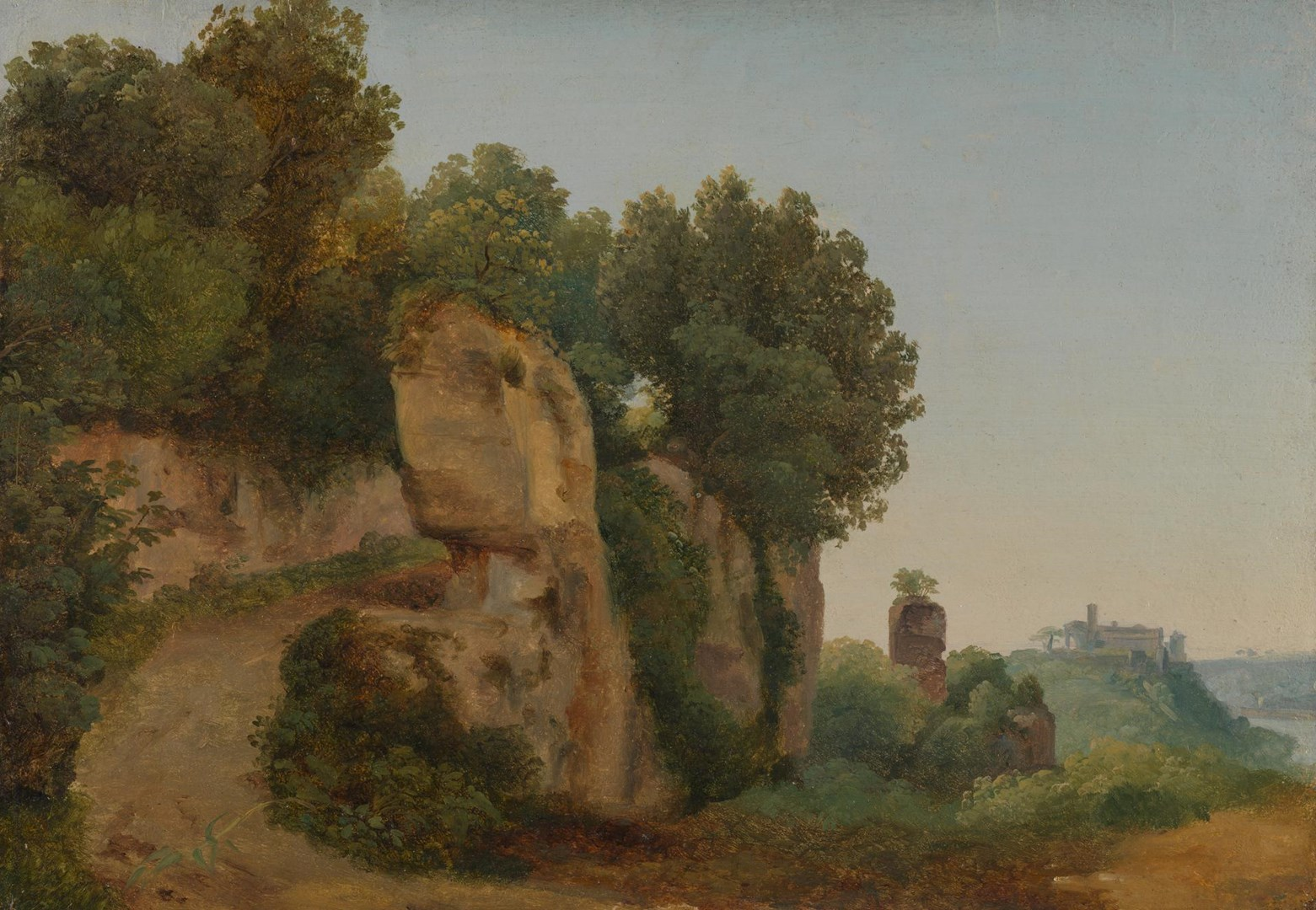 View of the Aventine Hill from the Palatine by Anton Sminck van Pitloo