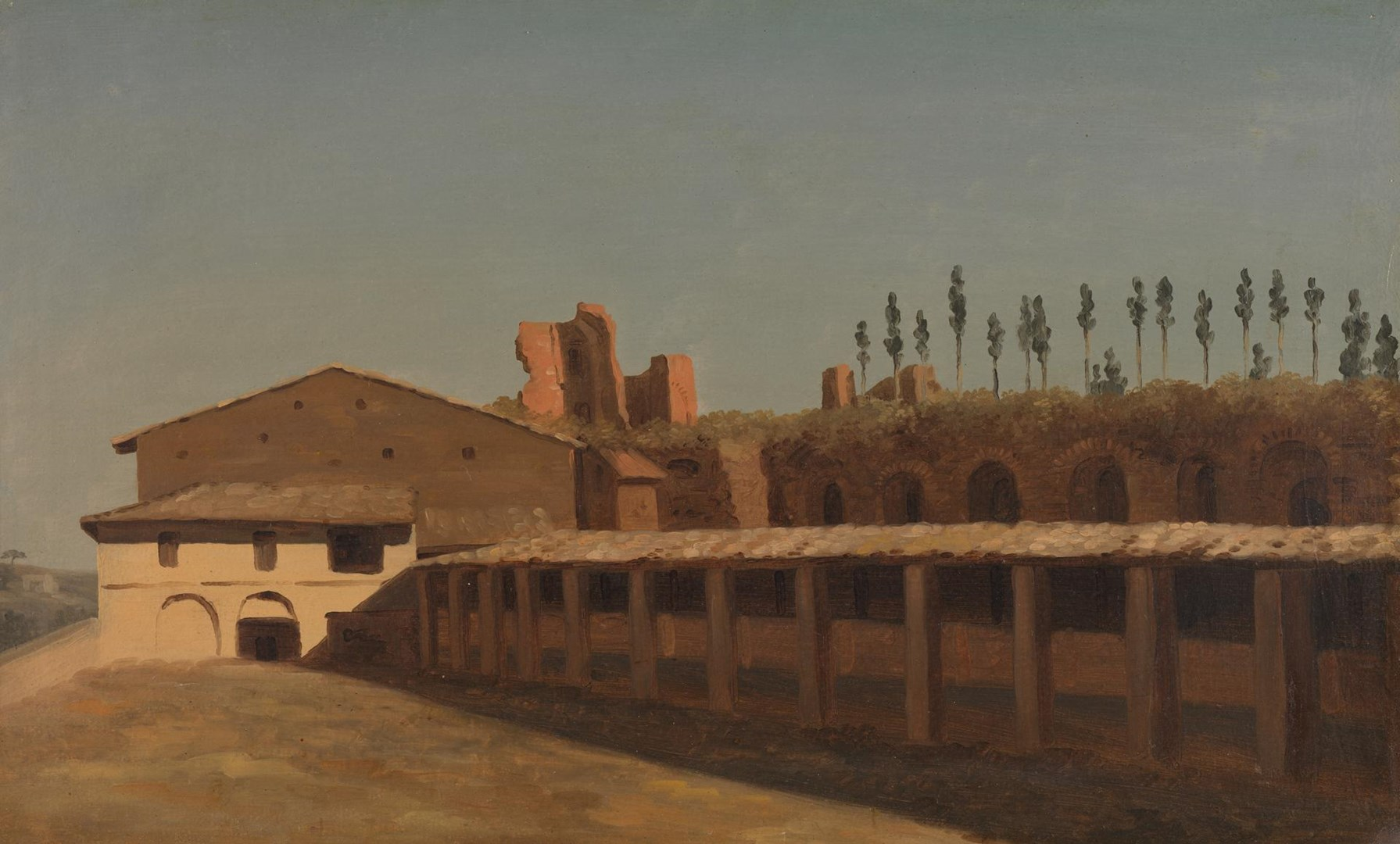 Cow-Shed and Houses on the Palatine Hill by Pierre-Henri de Valenciennes