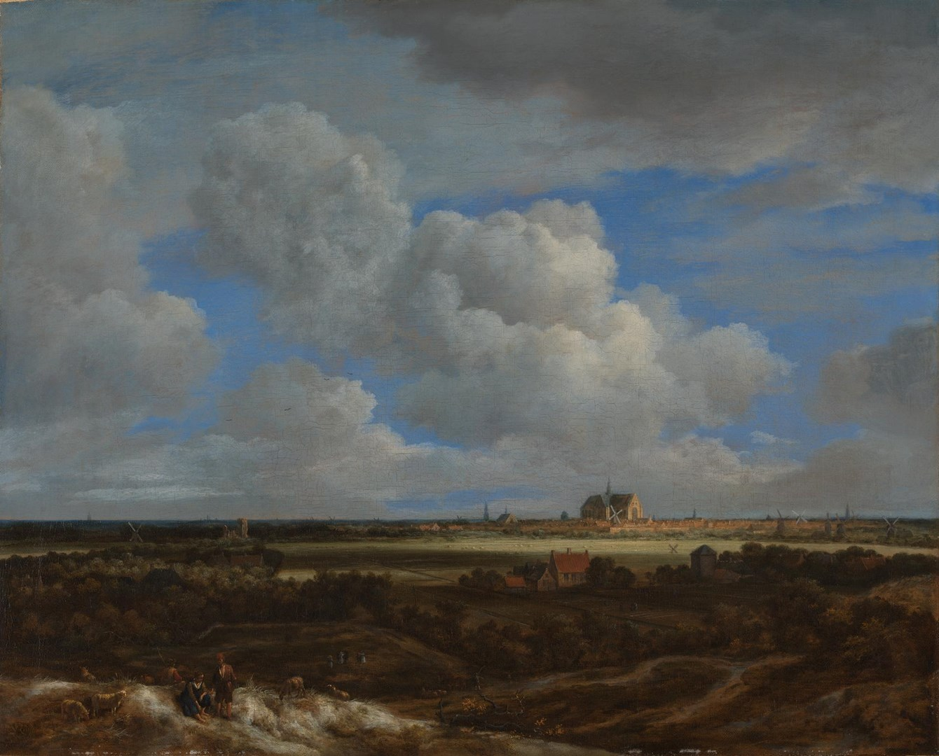 A Panoramic View of Haarlem by Jacob van Ruisdael
