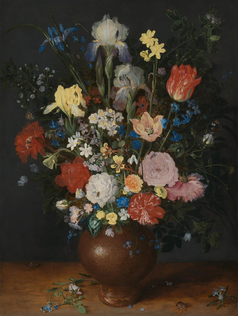 Bouquet in a Clay Vase by Jan Brueghel the Elder