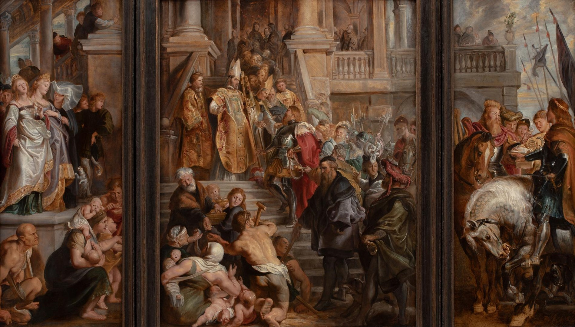 Oil Sketch for High Altarpiece, St Bavo, Ghent by Peter Paul Rubens