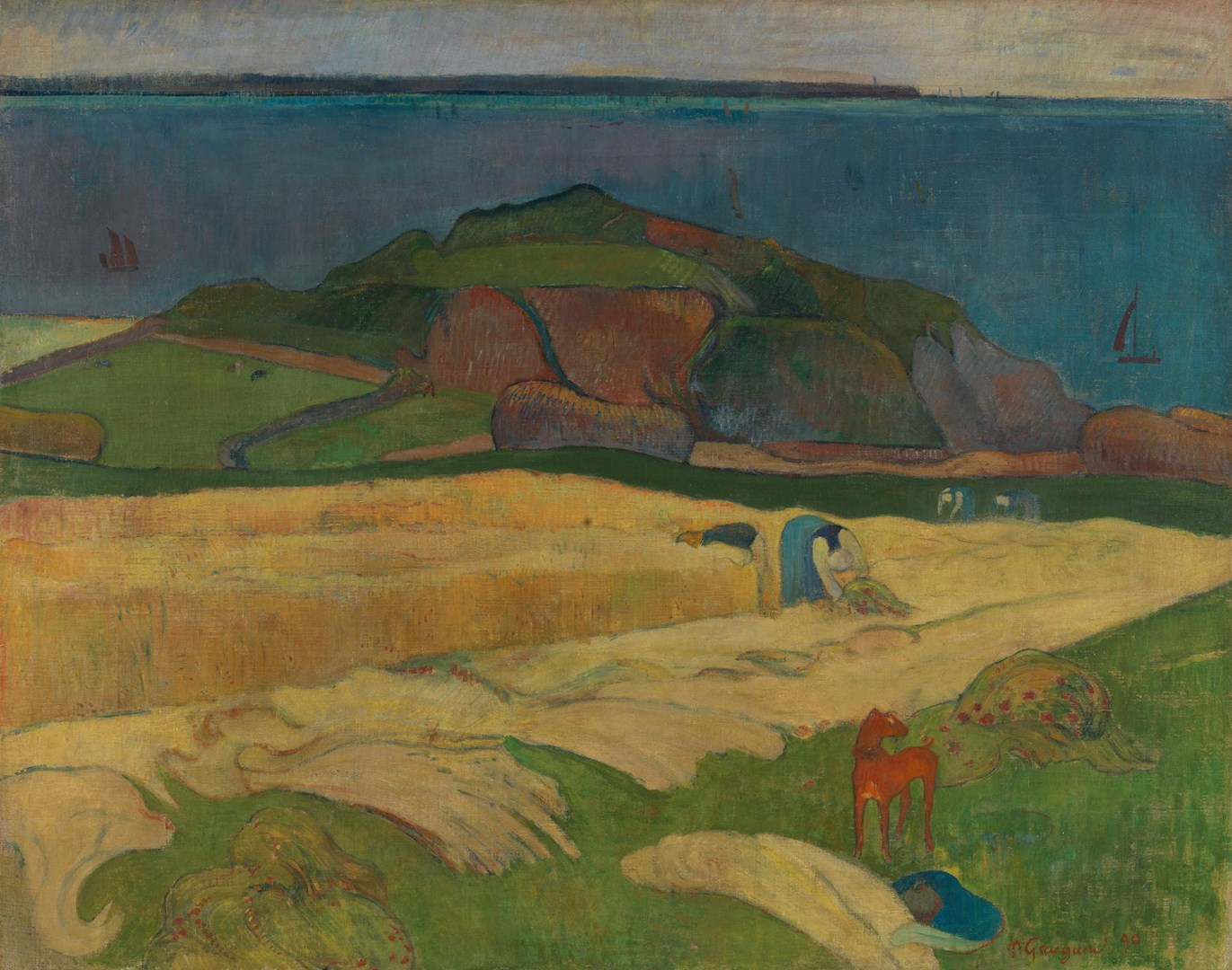 Harvest: Le Pouldu by Paul Gauguin