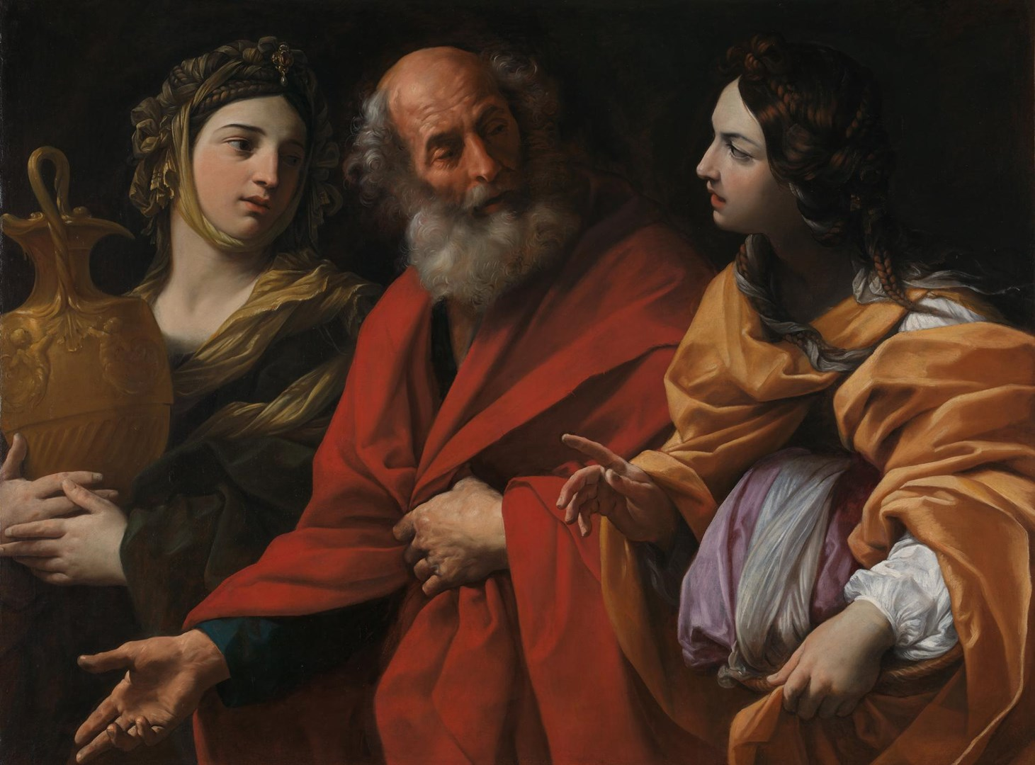 Lot and his Daughters leaving Sodom by Guido Reni