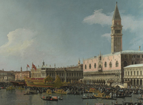 Detail from Canaletto, 'Venice: The Basin of San Marco on Ascension Day'