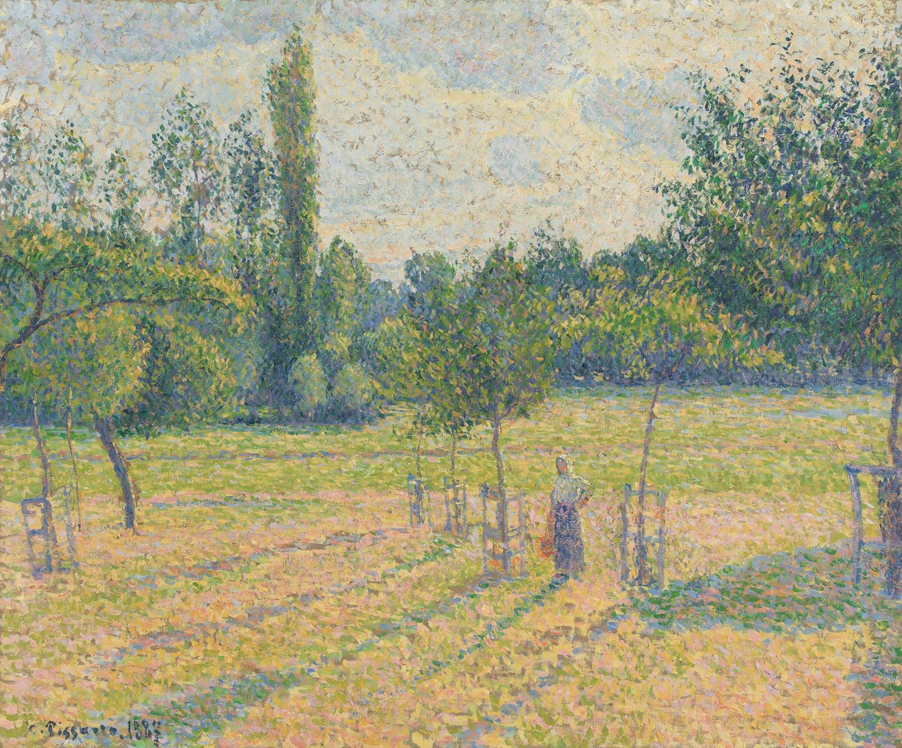 Late Afternoon in our Meadow by Camille Pissarro