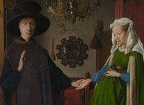 Details of Jan Van Eyck, 'The Arnolfini Portrait', about 1434
