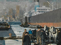 George Bellows, 'Men of the Docks', 1912