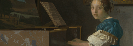 Vermeer, 'A Young Woman seated at a Virginal'