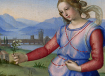 Detail from Raphael, 'Vision of a Knight', about 1504