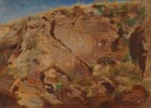 Arnold Böcklin: 'A Cliff Face'