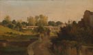 Léon Fleury: 'View of the Villa Borghese'