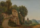 Anton Sminck van Pitloo: 'View of the Aventine Hill from the Palatine'