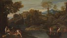 Domenichino: 'Landscape with a Fortified Town'