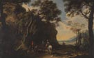 Salvator Rosa: 'Landscape with Travellers asking the Way'