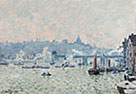 Alfred Sisley: 'View of the Thames: Charing Cross Bridge'