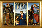 Pietro Perugino: 'Three Panels from a Certosa Altarpiece, Pavia'