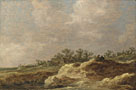 Attributed to Jan van Goyen: 'A Cottage on a Heath'
