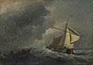 Willem van de Velde: 'A Dutch Vessel in a Strong Breeze'