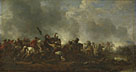 Attributed to Philips Wouwermans: 'Cavalry attacking Infantry'